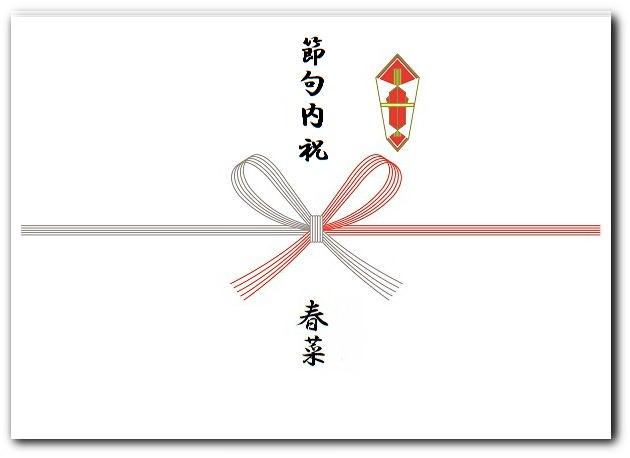 節句内祝いの熨斗の表書き