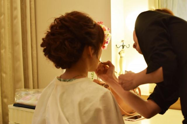 花嫁さんのヘアメイク